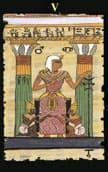 tarot egipcio El Sumo Sacerdote