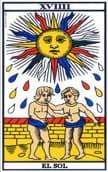 tarot de marsella El Sol