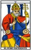 tarot de marsella El Sumo Sacerdote