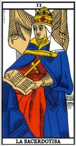 Significado de la carta La Sacerdotisa